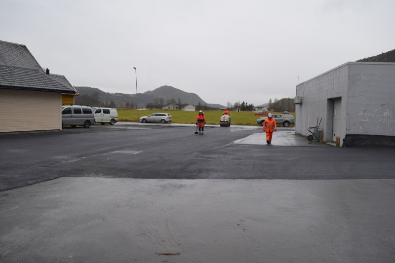 Utvidet parkeringsareal ferdig til bruk