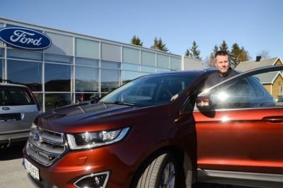 Roger Nyland er fornøyd med sitt valg av en brukt Ford Edge.