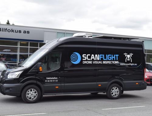 Skreddersydd Ford Transit til Scanflight