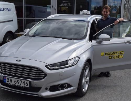 Ny romslig og komfortabel taxi i Mosjøen