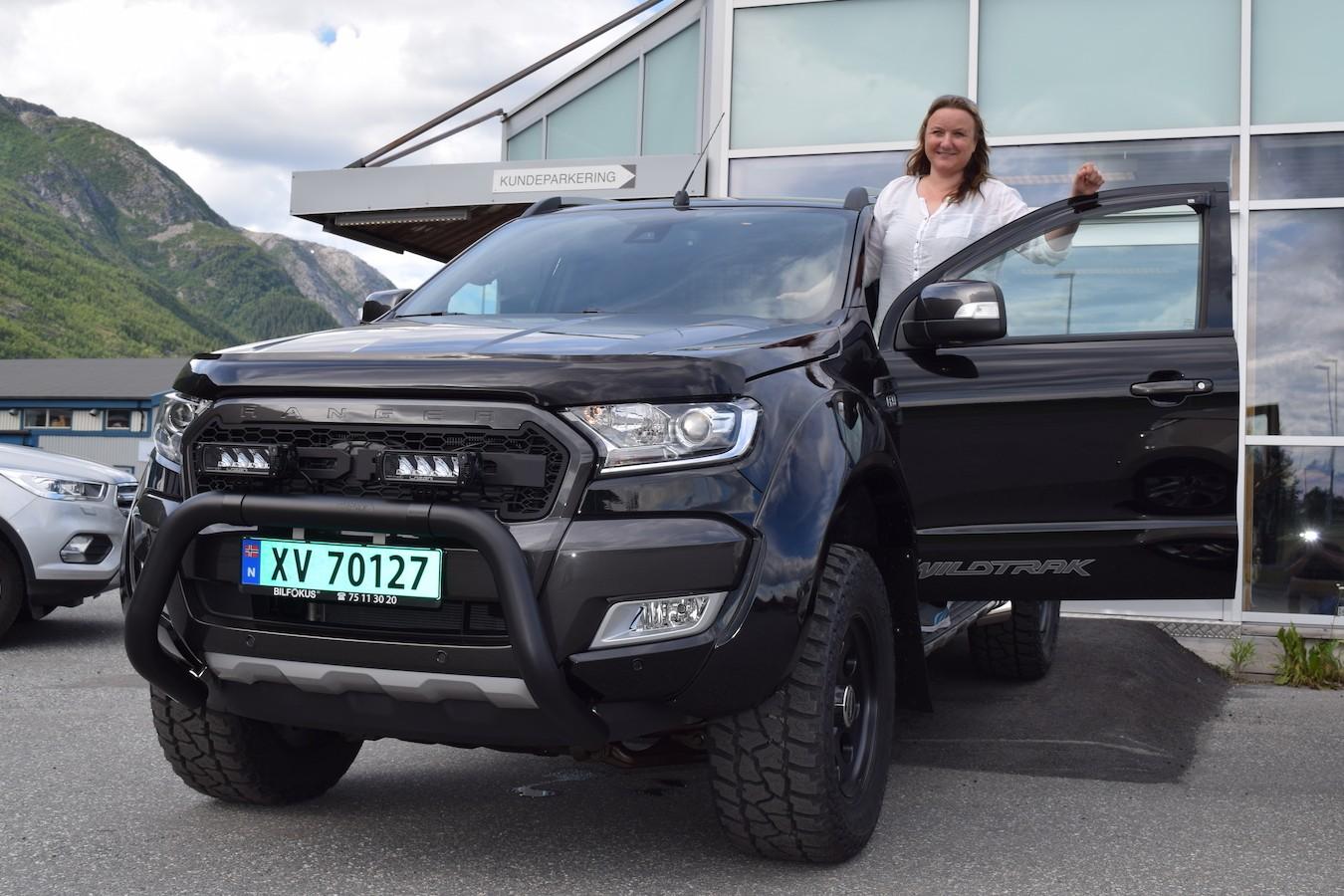 Anita Brevik har valgt en av de tøffeste - Ford Ranger Wildtrak Delta Monster